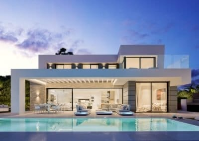 link to a page with 3 types of new villas for sale in cabopino marbella