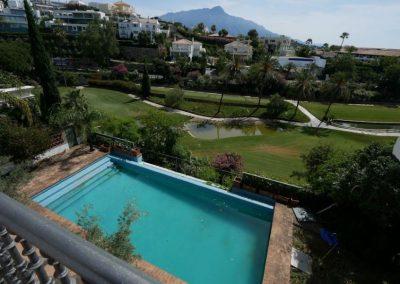 Bank repossession golf villa for sale in Marbella
